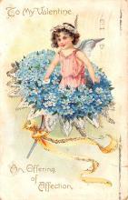 dam002025 - Valentines Day Post Card Old Vintage Antique Postcard