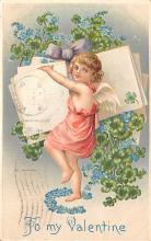 dam002029 - Valentines Day Post Card Old Vintage Antique Postcard