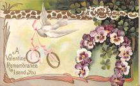 dam002031 - Valentines Day Post Card Old Vintage Antique Postcard