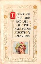 dam002037 - Valentines Day Post Card Old Vintage Antique Postcard