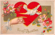 dam002039 - Valentines Day Post Card Old Vintage Antique Postcard