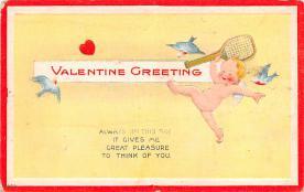 dam002051 - Valentines Day Post Card Old Vintage Antique Postcard