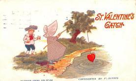 dam002065 - Valentines Day Post Card Old Vintage Antique Postcard