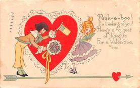 dam002071 - Valentines Day Post Card Old Vintage Antique Postcard