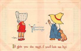 dam002077 - Valentines Day Post Card Old Vintage Antique Postcard