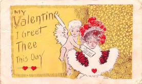 dam002079 - Valentines Day Post Card Old Vintage Antique Postcard