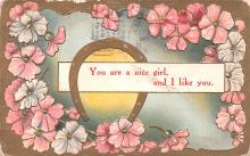 dam002083 - Valentines Day Post Card Old Vintage Antique Postcard