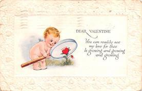 dam002087 - Valentines Day Post Card Old Vintage Antique Postcard