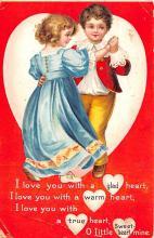 dam002089 - Valentines Day Post Card Old Vintage Antique Postcard