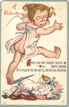 dam002095 - Valentines Day Post Card Old Vintage Antique Postcard