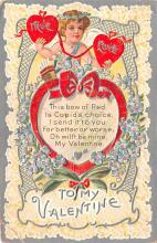 dam002097 - Valentines Day Post Card Old Vintage Antique Postcard