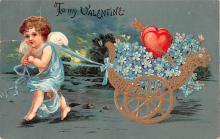 dam002101 - Valentines Day Post Card Old Vintage Antique Postcard