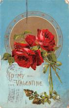 dam002103 - Valentines Day Post Card Old Vintage Antique Postcard