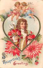 dam002105 - Valentines Day Post Card Old Vintage Antique Postcard