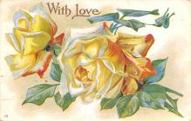 dam002111 - Valentines Day Post Card Old Vintage Antique Postcard