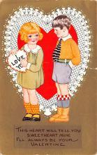 dam002115 - Valentines Day Post Card Old Vintage Antique Postcard
