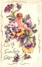 dam002117 - Valentines Day Post Card Old Vintage Antique Postcard