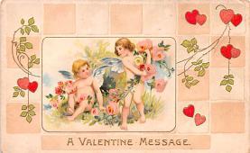 dam002123 - Valentines Day Post Card Old Vintage Antique Postcard