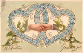 dam002125 - Valentines Day Post Card Old Vintage Antique Postcard