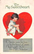 dam002129 - Valentines Day Post Card Old Vintage Antique Postcard