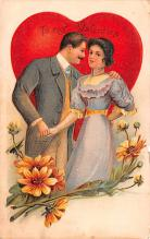dam002137 - Valentines Day Post Card Old Vintage Antique Postcard