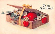 dam002143 - Valentines Day Post Card Old Vintage Antique Postcard