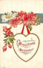 dam002147 - Valentines Day Post Card Old Vintage Antique Postcard