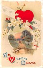 dam002151 - Valentines Day Post Card Old Vintage Antique Postcard