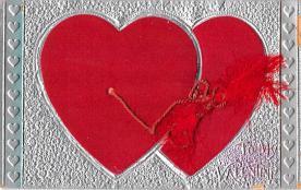 dam002155 - Valentines Day Post Card Old Vintage Antique Postcard