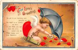dam002157 - Valentines Day Post Card Old Vintage Antique Postcard