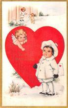 dam002161 - Valentines Day Post Card Old Vintage Antique Postcard