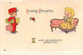 dam002165 - Valentines Day Post Card Old Vintage Antique Postcard