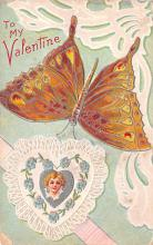 dam002169 - Valentines Day Post Card Old Vintage Antique Postcard