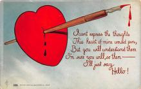 dam002171 - Valentines Day Post Card Old Vintage Antique Postcard