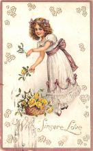 dam002173 - Valentines Day Post Card Old Vintage Antique Postcard
