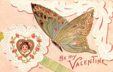 dam002175 - Valentines Day Post Card Old Vintage Antique Postcard