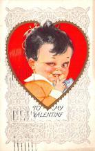 dam002177 - Valentines Day Post Card Old Vintage Antique Postcard