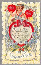 dam002179 - Valentines Day Post Card Old Vintage Antique Postcard