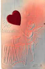 dam002183 - Valentines Day Post Card Old Vintage Antique Postcard