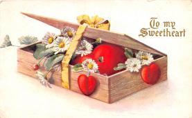 dam002187 - Valentines Day Post Card Old Vintage Antique Postcard