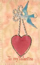dam002191 - Valentines Day Post Card Old Vintage Antique Postcard