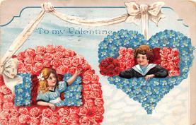 dam002197 - Valentines Day Post Card Old Vintage Antique Postcard