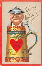 dam002199 - Valentines Day Post Card Old Vintage Antique Postcard