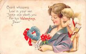 dam002203 - Valentines Day Post Card Old Vintage Antique Postcard