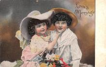 dam002207 - Valentines Day Post Card Old Vintage Antique Postcard