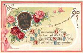 dam002209 - Valentines Day Post Card Old Vintage Antique Postcard