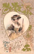 dam002213 - Valentines Day Post Card Old Vintage Antique Postcard