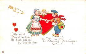 dam002215 - Valentines Day Post Card Old Vintage Antique Postcard