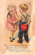 dam002221 - Valentines Day Post Card Old Vintage Antique Postcard