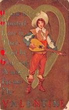 dam002223 - Valentines Day Post Card Old Vintage Antique Postcard